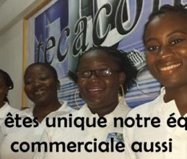 Equipe Commercial Tecacom Cameroun